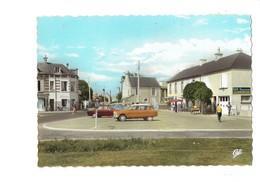 Cpm - 14 - Asnelles Belle-Plage - La Place - Voiture AMI 6 CITROËN Bar Dégustation Alimentation Vélo Baby-foot Jeu - Autres Communes