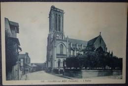 14 Calvados CPSM  Villers Sur Mer L'église - Villers Sur Mer