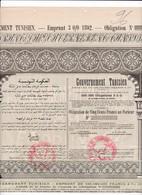 Th4  GOUVERNEMENT : TUNISIEN - Obligation De 500 Frs1892    (25) - Azioni & Titoli