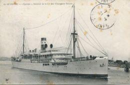 """N°68080 -cpa Le Havre -""""Europe"""" Steamer De La Cie CHargeurs Réunis- - Commerce"""