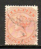 AMERIQUE DU NORD - BERMUDES - (Colonie Britannique) - 1880 - N° 16 - 4 P. Rouge-orange - (Victoria) - Bermuda