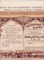 Th4  GOUVERNEMENT : TUNISIEN - Obligation De 500 Frs1902   (26) - Aandelen