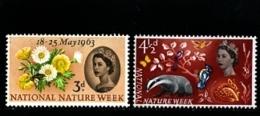 GREAT BRITAIN - 1963  NATURE  SET  MINT NH - 1952-.... (Elisabetta II)
