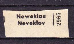 Einschreibezettel, Neweklau Neveklov (61676) - Tschechische Republik