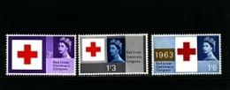 GREAT BRITAIN - 1963  RED CROSS  SET  MINT NH - 1952-.... (Elisabetta II)