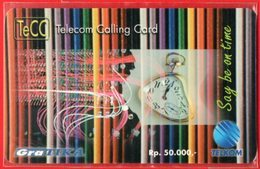 Indonesia Telkom TeCC Telkom Calling Card Say Be On Time Mint - Telecom Operators
