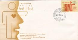 50 ANOS DE JUIZADO DE MENORES NO BRASIL. FDC GUANABARA 1974. BRASIL- BLEUP. - FDC