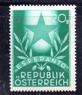 W572 - AUSTRIA 1949 , Unificato N. 770  ***  MNH  .  ESPERANTO - 1945-.... 2a Repubblica
