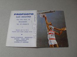 Calendrier De Poche - 1987 - Basket - Beaumont - Calendriers