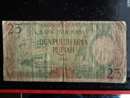 INDONESIE 25 RUPIA 1958 - Indonesia
