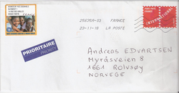 France 2018  Cover With Imprinted Stamps Port Paye France International, Cancelled 23.11.18 - France