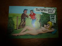 CPM  (gauloiserie Dans Un Camp De Nudistes) :  NUDIST CAMP PRIVATE -   (Carte Anglaise) - Humour