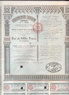 Th4  GOUVERNEMENT : TUNISIEN - Bon De 1000 Frs1934N° 29 - Andere