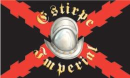 Bandera Estirpe Imperial. Tercios Españoles. Casco Morrión. España. Ejército Español - Drapeaux