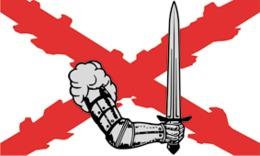 Bandera 28.ª División De Granaderos SS Voluntarios Wallonien. Similar Tercios Españoles. Bélgica, Rexismo, León Degrelle - Banderas