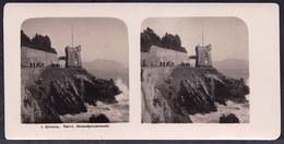 Ca 1900 - SUPERB STEREO PHOTO ITALIA - LIGURIA - GENOA - NERVI ----  PROMENADE AT THE RIVIERA - Photos