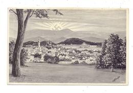 NIEDER - SCHLESIEN - HIRSCHBERG / JELENIA GORA, Ortsansicht, NS-Propaganda, Künstler-Karte P.Klimke - Schlesien