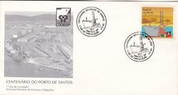 CENTENARIO DO PORTO DE SANTOS-FDC 1992, SANTOS . BRASIL- BLEUP. - FDC