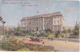 LEBANON MONT LIBAN SYRIE TURQUIE AUTRICHE 1909 POSTCARD CPA HOTEL CASINO AIN SOFAR EDIT. REISER - Liban