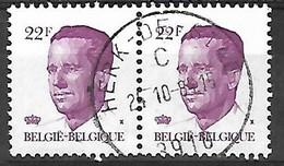OCB Nr 2125 Velghe Boudewijn Baudouin  - Centrale Stempel Herk De Stad - 1981-1990 Velghe