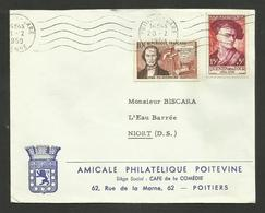 Thimonnier & Surtaxé Quentin De La Tour / POITIERS 28.02.1959 >>> NIORT - 1921-1960: Periodo Moderno