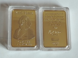 Medalla Karl Marx. 1818-83. Marxismo. Comunismo. Fabricación Actual - Alemania