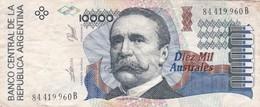 10.000 AUSTRALES REPUBLICA ARGENTINA CARLOS PELEGRINI SERIE B CIRCA 1989- BLEUP. - Argentinië