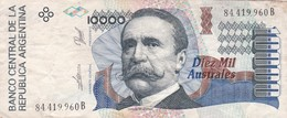 10.000 AUSTRALES REPUBLICA ARGENTINA CARLOS PELEGRINI SERIE B CIRCA 1989- BLEUP. - Argentina