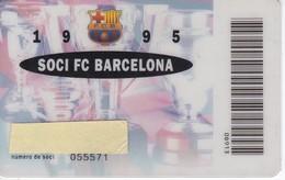 CARNET DE SOCIO DE FUTBOL CLUB BARCELONA TEMPORADA 1995 ANUAL (FOOTBALL) BARÇA-BANCA CATALANA - Fútbol