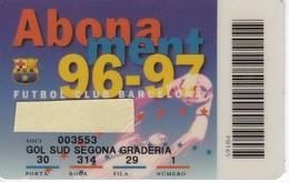 CARNET DE SOCIO DE FUTBOL CLUB BARCELONA TEMPORADA 1995/96 GOL SUD (FOOTBALL) BARÇA - LA CAIXA - Sin Clasificación