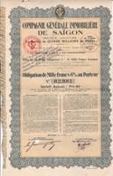 Th 4 IMMOBILIER : SAIGON - Obligation De 1000 Frs1930N° 39 - Andere