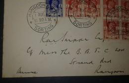O) 1940 BURMA -MYANMAR, KING GEORGE VI SC 18A 1p - SC 20 6p, RANGOON -SORTING, MULTIPLE COVER - Myanmar (Burma 1948-...)