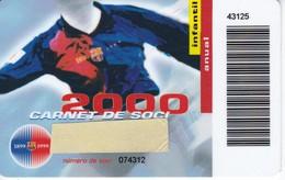 CARNET DE SOCIO DE FUTBOL CLUB BARCELONA TEMPORADA 2000 INFANTIL (FOOTBALL) BARÇA - LA CAIXA - Fútbol
