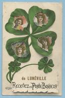 F0193  CPA  LUNEVILLE (M. & Moselle)  De LUNEVILLE Recevez Ce Porte-Bonheur - Trèfle à 4 Feuilles  ++++++ - Luneville