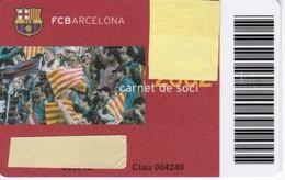 CARNET DE SOCIO DE FUTBOL CLUB BARCELONA TEMPORADA 2002 CON FOTO (FOOTBALL) BARÇA - LA CAIXA - Sin Clasificación