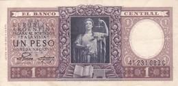 1 PESO MONEDA NACIONAL REPUBLICA ARGENTINA SERIE A,C O D CIRCA 1954- BLEUP. - Argentinië