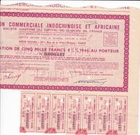 Th 4 INDOCHINOISE Et AFRICAINE : Obligation De 5000 Frs1946N° 41 - Aandelen