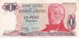 UN PESO GENERAL SAN MARTIN REPUBLICA ARGENTINA SERIE A CIRCA 1983- BLEUP. - Argentina