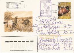 South Ossetia 2000 Birds, On Registered Cover With Bird Motiv - Oiseaux