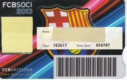 CARNET DE SOCIO DE FUTBOL CLUB BARCELONA TEMPORADA 2013 SENIOR - BARÇA (CAIXA-NIKE-AUDI - Fútbol