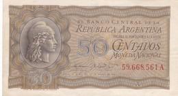 50 CENTAVOS MONEDA NACIONAL REPUBLICA ARGENTINA SERIE A CIRCA 1942- BLEUP. - Argentina