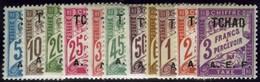 Chad. Sc #J1-J11. Postage Due. Mint. VF. - Chad (1922-1936)