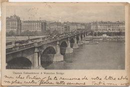 CPA ANGLETERRE LONDRES Le Pont Waterloo Et Les Bords De La Tamise 1903 - London