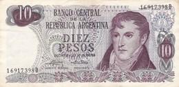 10 PESOS GRAL BELGRANO REPUBLICA ARGENTINA SERIE D CIRCA 1970- BLEUP. - Argentina