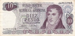 10 PESOS GRAL BELGRANO REPUBLICA ARGENTINA SERIE D CIRCA 1970- BLEUP. - Argentinië