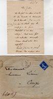 VP13.693 - PARIS 1921 / 29 - 2 Lettres De Mr Emile HIVERLET à Melle Lucienne LIEVIN à CONGIS - Manuscripts