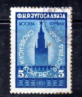 W1009 - YUGOSLAVIA 1946, Unificato Il 5 D. N. 459  Usato - Usati