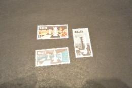 K18080 - Set MNH Malta - 1980 - SC. -  577-579  MI. 621-623 - Chess Olympiad -Valletta - Schaken