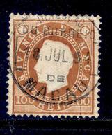 ! ! Macau - 1887 D. Luis 100r (Perf. 12 1/2) - Af. 39 - Used - Oblitérés