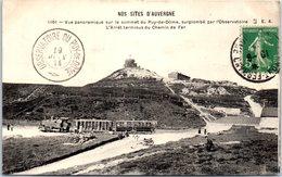 63 Vue Panoramique Sur Le Sommet Du Puy-De-Dôme, Surplombé Par L'observatoire - France